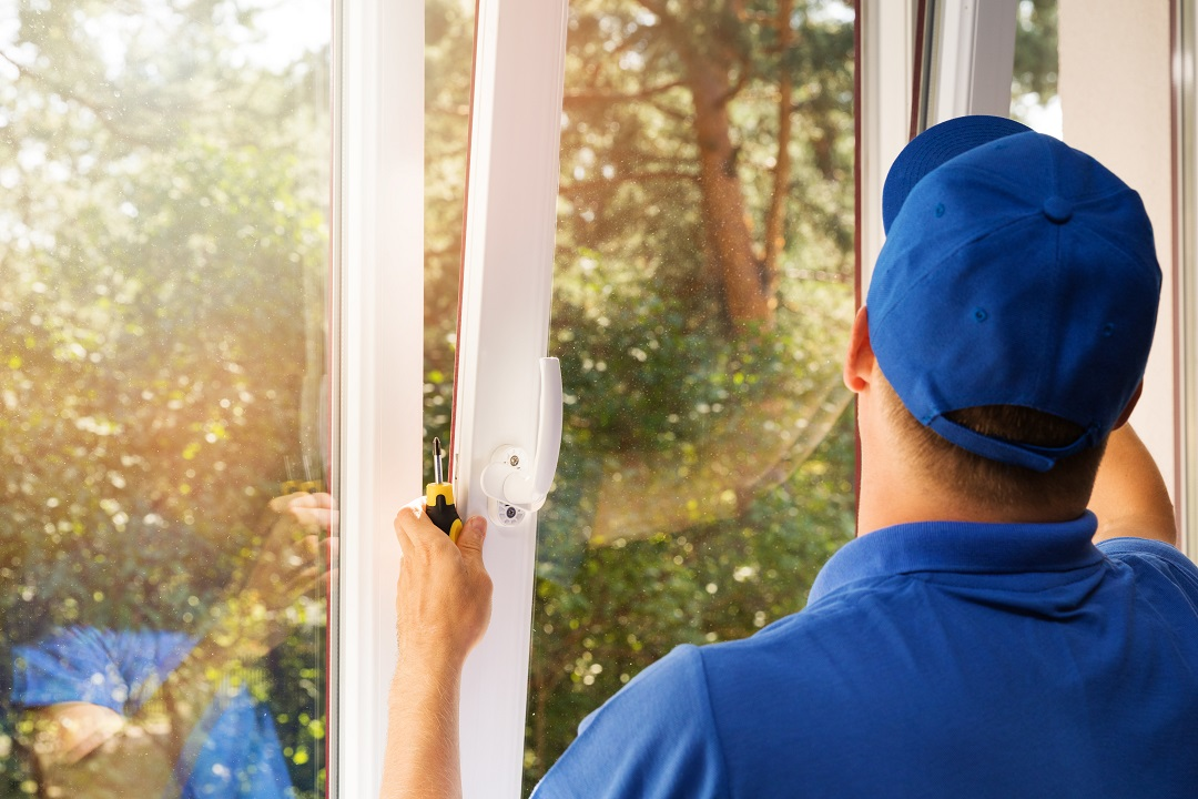 Installing New Plastic Glass PVC Window